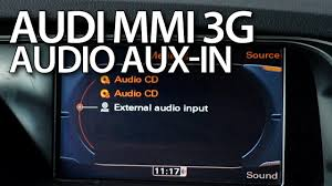 how to activate audio aux in audi mmi 3g a1 a4 a5 a6 a7 a8 q3 q5