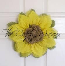 sunflower wreath small yellow burlap sunflower wreath with center the