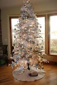 white tree blue led lights lights decoration