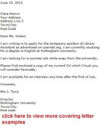 cover letter sample for a bank job example within application