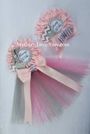 gray and pink baby shower mommy to be pin gray and pink baby