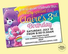 care bears invitation free card care bear birthday