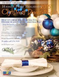 turkey dinner to go christmas dinner to go 2015 marine corps community services hawaii