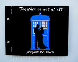 wedding gift journal doctor who journal etsy