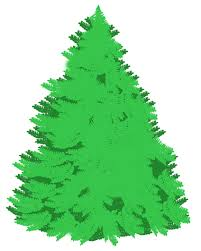 free printable christmas tree clipart 75