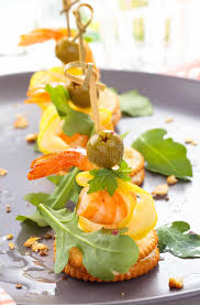 canapes with prawns canapes with prawns stock image image of diet background 79272899