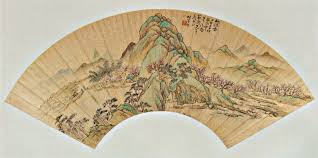 file u0027peach blossom spring u0027 qing dinasty fan painting by shen