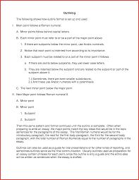 outline sample resume template