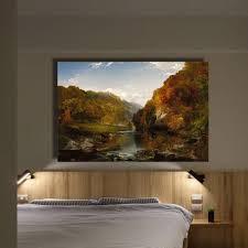 qk art frameless water buffalo landscape oil painting canvas wall