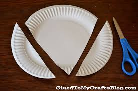 paper plate strawberry kid craft glued to my crafts