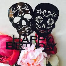 skull cake topper sugar skull cake topper happy birthday sugarskull cake topper cake