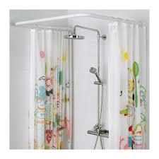 L Shape Curtain Rod Top Vikarn Shower Curtain Rod Ikea Intended For Ikea Shower