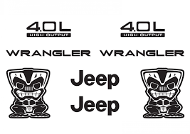 jeep wave stickers jeep wrangler tiki bob refresh kit vinyl sticker decal 4x4 tj yj