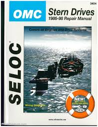 seloc omc cobra stern drive 1986 1998 repair manual by