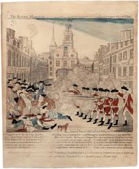 What Did The First American Flag Look Like Paul Revere U0027s Engraving Of The Boston Massacre 1770 Gilder