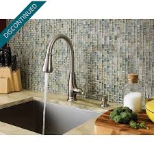 stainless steel ainsley 1 handle pull down kitchen faucet f 529