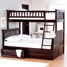 white bunk beds with stairs white bedding set before the purple