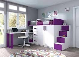 chambre de fille lit mezzanine bureau ado charmant couleur mur chambre ado fille 16