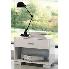 Contemporary White Nightstand Astrid Modern White Nightstand Eurway Furniture