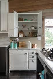 Antique Hoosier Kitchen Cabinet Idaho Lake Cabin Home Tour Kohler