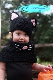 Kids Halloween Cat Costume Black Cat Hat Cowl Black Cat Costume Kids Halloween