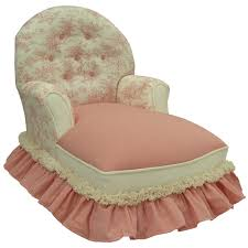 Kids Chaise Lounge Impressive Kids Chaise Lounge Pink Toile Child Queen Anne Chaise