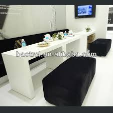 Salon Front Desk Furniture Mdf Frame Artificial Marble Surface Modern Nail Salon Front Desk