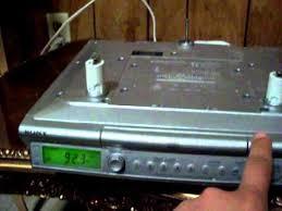 Under Cabinet Radio Tv Kitchen Demo Sony Icf Cd543rm Under Cabinet Cd Player Am Fm Clock Radio