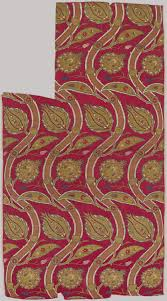 pattern fabric ottoman fragmentary loom width with wavy vine pattern date ca 1565 80