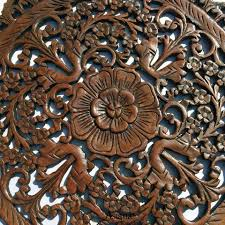 carved wood wall decor decorative floral wall