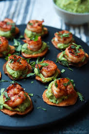 Dinner Party Hors D Oeuvre Ideas Cajun Shrimp Guacamole Bites Easy Healthy Recipes Using Real