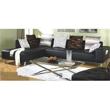 Leather Sectional Sofa Chaise Furniture Of America Ibiza 3 Piece Bicast Leather Sectional Sofa