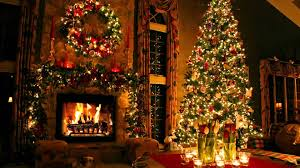 christmas tree and fireplace youtube