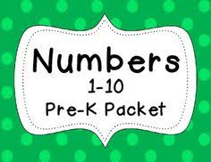 free 24 page preschool numbers worksheet packet from
