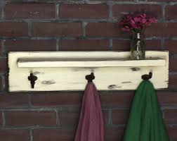 coat rack with boat cleat hooks towel rack