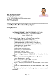 Sample Resume Consultant by Fire Safety Engineer Sample Resume Haadyaooverbayresort Com