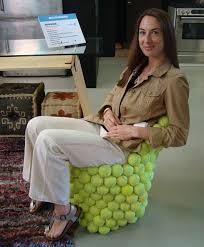 Tennis Balls For Chairs Green Design Literally The Tennis Ball Chair
