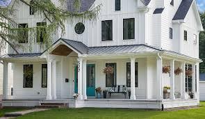 farmhouse porches white farmhouse with wrap around porch home bunch interior design