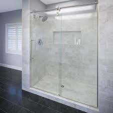 shop basco roda rolaire 57 in to 59 in frameless shower door at