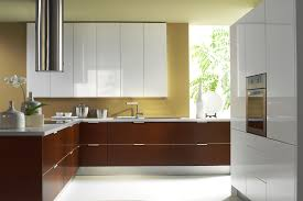 Kitchen Cabinet Stainless Steel Kitchen With Tube Stainless Steel Hood And Laminate Cabinets