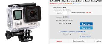 gopro hero4 silver amazon deal black friday great deal gopro hero4 silver 329 and black 399 running