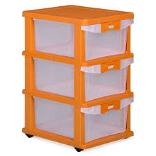 nilkamal chest of drawers orange u0026 transparent u2013 homegenic
