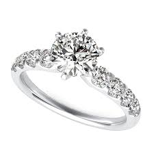 20000 engagement ring classic engagement ring with prong set side stones edwin novel