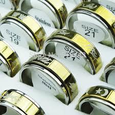 aliexpress buy new arrival 10pcs wholesale fashion new arrival 10pcs fashion cool layer spin gold 316l