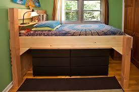 Ultimate Bed Plans Bedroom Lofted Bed Free Loft Bed Plans Kura Loft Bed