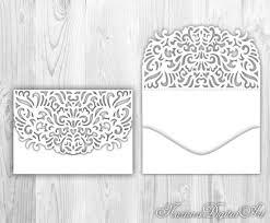lace fold pocket envelope 5x7 laser cut template silhouette