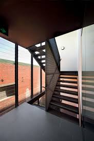 Glass Wall Design by Apartments Glamorous 5 Storey Apartment Wooden Stairs Transparent