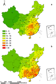 Map Of China Provinces by Spatial Patterns Of Ndep In China Kg Ha 1 A 1 Spatial