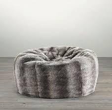 faux fur bean bag chair grand faux fur bean bag chinchilla