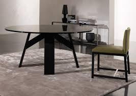 Modern Black Glass Dining Table Furniture Modern Home Interior Design Ideas With Minotti Dining
